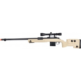 WellFire MB4416 M40A3 Bolt Action Sniper Rifle w/ Scope - TAN