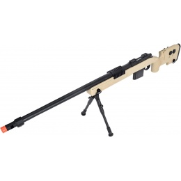 WellFire MB4416 M40A3 Bolt Action Sniper Rifle w/ Bipod - TAN