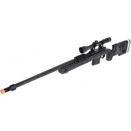WellFire MB4417 M40A3 Bolt Action Airsoft Sniper Rifle w/ Scope - BLACK