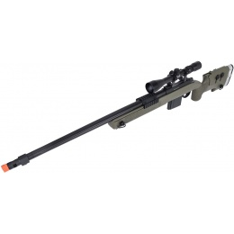 WellFire MB4417 M40A3 Bolt Action Airsoft Sniper Rifle w/ Scope - OD GREEN