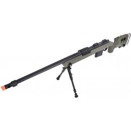 WellFire MB4417 M40A3 Bolt Action Airsoft Sniper Rifle w/ Bipod - OD GREEN
