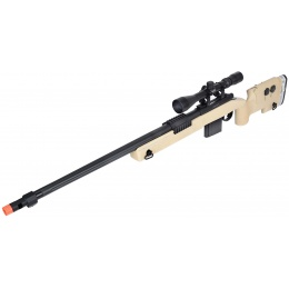 WellFire MB4417 M40A3 Bolt Action Airsoft Sniper Rifle w/ Scope - TAN