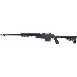 WellFire MB4418-1 Bolt Action Airsoft Sniper Rifle - BLACK