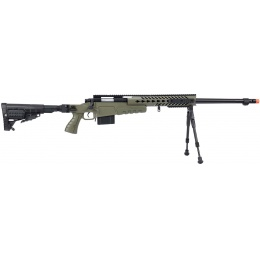 WellFire MB4418-1 Bolt Action Airsoft Sniper Rifle w/ Bipod - OD GREEN