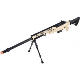 WellFire MB4418-1 Bolt Action Airsoft Sniper Rifle w/ Bipod - TAN