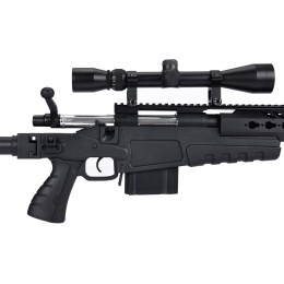 WellFire MB4418-2 Bolt Action Airsoft Sniper Rifle w/ Scope - BLACK