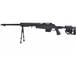 WellFire MB4418-2 Bolt Action Airsoft Sniper Rifle w/ Bipod - BLACK
