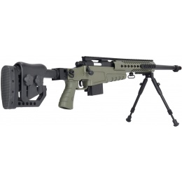 WellFire MB4418-2 Bolt Action Airsoft Sniper Rifle w/ Bipod - OD GREEN