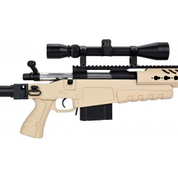 WellFire MB4418-2 Bolt Action Airsoft Sniper Rifle w/ Scope - TAN