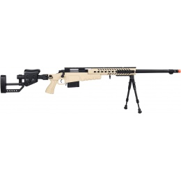 WellFire MB4418-2 Bolt Action Airsoft Sniper Rifle w/ Bipod - TAN