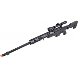 WellFire MB4418-3 Bolt Action Airsoft Sniper Rifle w/ Scope - BLACK