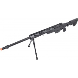 WellFire MB4418-3 Bolt Action Airsoft Sniper Rifle w/ Bipod - BLACK