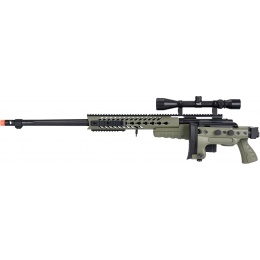 WellFire MB4418-3 Bolt Action Airsoft Sniper Rifle w/ Scope - OD GREEN