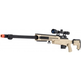 WellFire MB4418-3 Bolt Action Airsoft Sniper Rifle w/ Scope - TAN