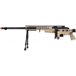 WellFire MB4418-3 Bolt Action Airsoft Sniper Rifle w/ Bipod - TAN