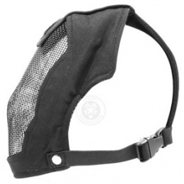 Black Bear RAMPAGE 1000D Steel Mesh Full Face Airsoft Mask - BLACK
