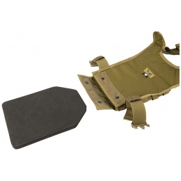 Flyye Industries 1000D Cordura MOLLE PC Plate Carrier (LRG) - KHAKI