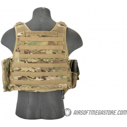 Flyye Industries 1000D Cordura MOLLE Plate Carrier w/ Pouches - (LRG) MULTICAM