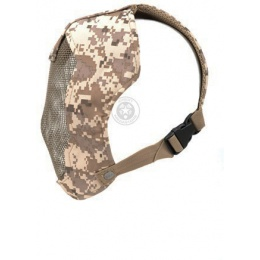 Black Bear Airsoft RAMPAGE Steel Mesh Face Mask - Desert Marpat