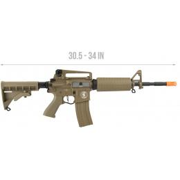 Lancer Tactical M4A1 LT-06 Carbine Proline Airsoft AEG [LOW FPS] - TAN