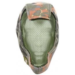 Black Bear RAMPAGE 1000D Steel Mesh Full Face Airsoft Mask - FLECKTARN