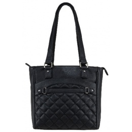 NcStar VISM Conceal Carry Quilted Tote Bag - BLACK