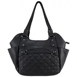 NcStar VISM Conceal Carry Quilted Hobo Tote Bag (Large) - BLACK