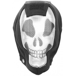 Black Bear RAMPAGE 1000D Steel Mesh Full Face Airsoft Mask - GHOST
