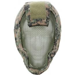 Black Bear RAMPAGE 1000D Steel Mesh Full Face Airsoft Mask - MARPAT
