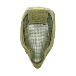 Black Bear Airsoft RAMPAGE Tactical Mesh Full Face Mask 1000D - OD