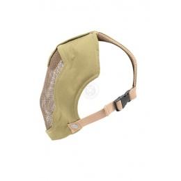 Black Bear RAMPAGE 1000D Steel Mesh Full Face Airsoft Mask - TAN