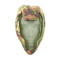 Black Bear RAMPAGE 1000D Steel Mesh Face Mask  - VEGETATION ITALIA