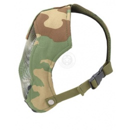 Black Bear Airsoft RAMPAGE Steel Mesh Full Face Mask 1000D - WOODLAND