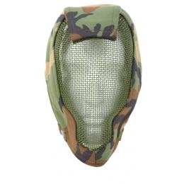 Black Bear Airsoft RAMPAGE Tactical Mesh Face Mask 1000D - Woodland