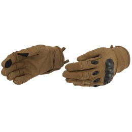 Lancer Tactical Kevlar Airsoft Tactical Hard Knuckle Gloves [SMALL] - TAN
