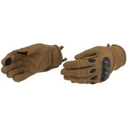 Lancer Tactical Kevlar Airsoft Tactical Hard Knuckle Gloves [MED] - TAN