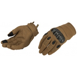 Lancer Tactical Kevlar Airsoft Tactical Hard Knuckle Gloves [XL] - TAN