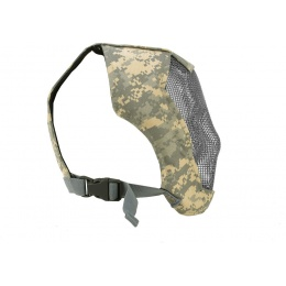 Black Bear Airsoft RAZOR 1000D Steel Mesh Full Face Airsoft Mask - ACU