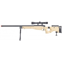 WellFire L96 AWP Bolt Action Rifle w/ Folding Stock, Scope & Bipod - TAN