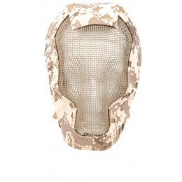 Black Bear RAZOR 1000D Steel Mesh Full Face Mask - DESERT MARPAT