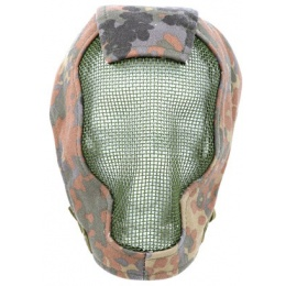 Black Bear RAZOR 1000D Steel Mesh Full Face Airosft Mask - FLECKTARN