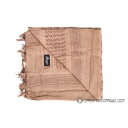 Lancer Tactical Multi-Purpose Shemagh Face Head Wrap - LIGHT BROWN / DARK BROWN