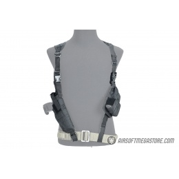 Lancer Tactical Shoulder Holster Rig with Pistol Magazine Pouches - BLACK