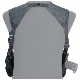 Lancer Tactical Shoulder Holster Rig with Pistol Magazine Pouches - BLACK
