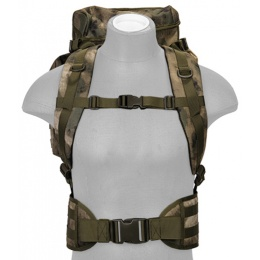 Lancer Tactical 600D Nylon Rifle Case Backpack - CAMO/AT-FG