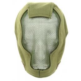 Black Bear RAZOR 1000D Steel Mesh Full Face Airsoft Mask - OD GREEN