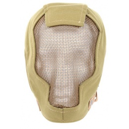 Black Bear Airsoft RAZOR 1000D Steel Mesh Full Face Airsoft Mask - TAN