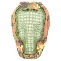Black Bear RAZOR Steel Mesh 1000D Full Face Mask - VEGETATION ITALIA