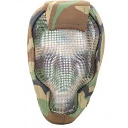 Black Bear Airsoft RAZOR Steel Mesh Full Face Mask 1000D - WOODLAND