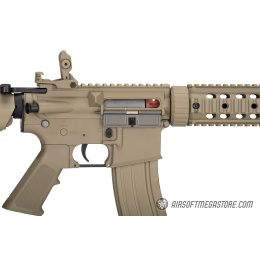 Lancer Tactical Nylon Polymer M4 Gen 2 SD AEG Airsoft Rifle [LOW FPS] - TAN